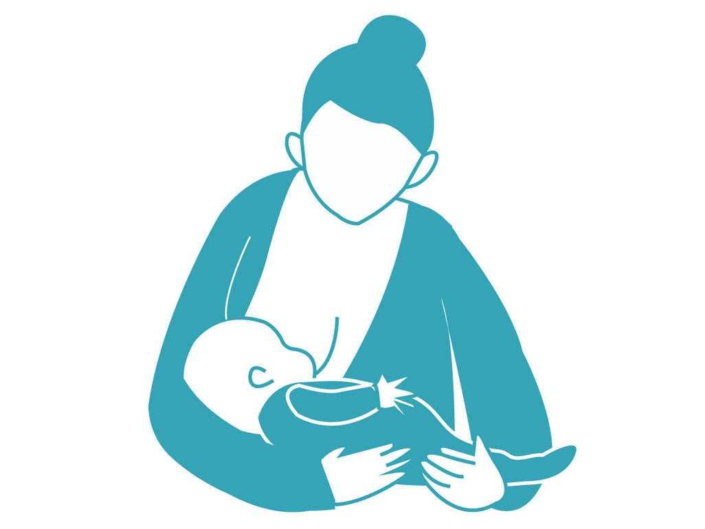 Στάσεις μητρικού θηλασμού Κλασική στάση - στάση αγκαλιάς (Cradle hold)
