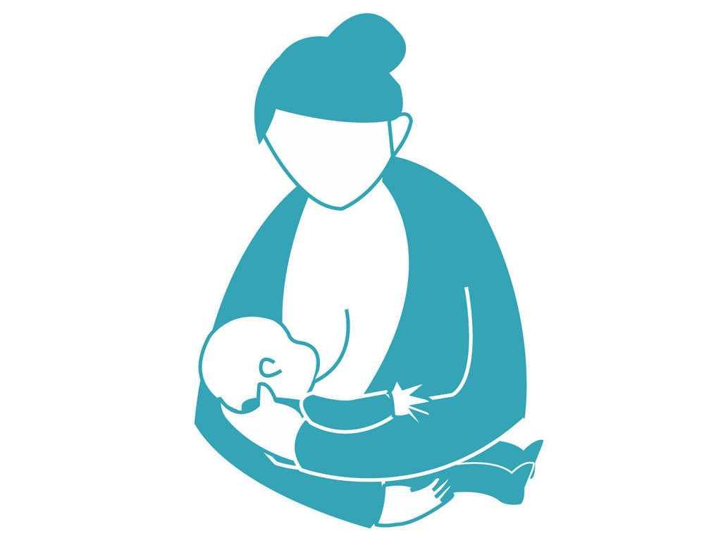 Στάσεις μητρικού θηλασμού Στάση αντίστροφης αγκαλιάς (Cross Cradle Hold)