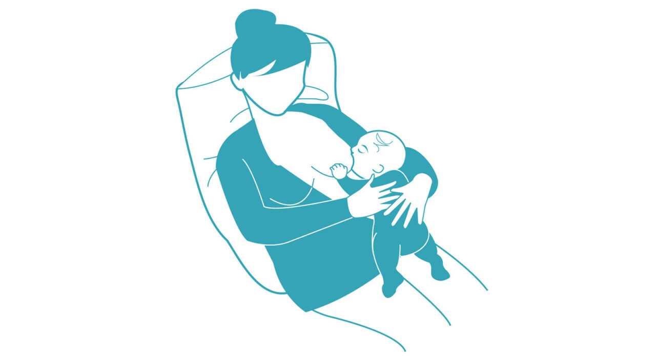 Στάσεις μητρικού θηλασμού Χαλαρή στάση (Laid Back)